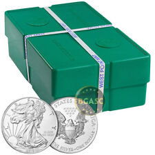 Mint Sealed Monster Box of 2018 1 oz Silver Eagles - 500 BU Coins