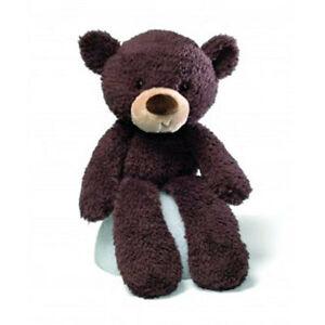 NEW GUND Fuzzy Chocolate Brown Teddy Bear Cute Adorable Soft Plush Toy Kids Gift