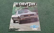 1981 Model CHEVY Chevrolet LUV 2WD 4WD PICKUP USA COLOUR BROCHURE