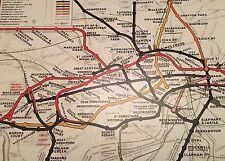 London Underground, The Tube, Subway Map Poster Vintage 50cm x 70cm