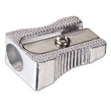 Officemate Metal Pencil Sharpener Metallic Silver 4/Pack 30218