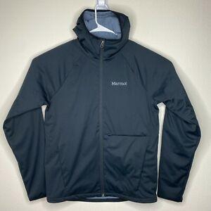 Marmot Mens Small Black Insulated Full Zip Hooded Jacket Coat Salesforce Logo