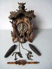Vintage Black Forest Cuckoo Clock Germany Hunting