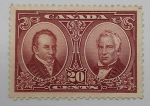 CANADA STAMP #148 20 CENTS RED CARMINE H-VF