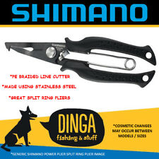 Shimano 7'' Split Ring Power Pliers With Braid Cutter- Black