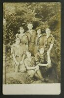 Young Man & Women Scouts in Uniform? 1920 Summitville, NY Postcard RPPC 5267