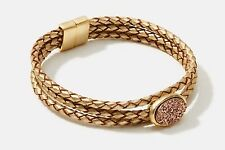 ANN TAYLOR LOFT DRUZY BRAIDED GOLD BRACELET -- NEW WITH TAG