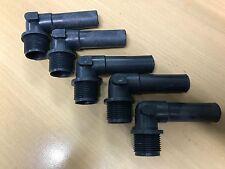 Schlauchverschraubung / 90° / 3/4 Zoll / 19mm Kunststoff / Tank / Boot /