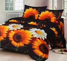 Elegant 3-D Reactive Print Microfiber Double Bedsheet with 2 Pillow Covers