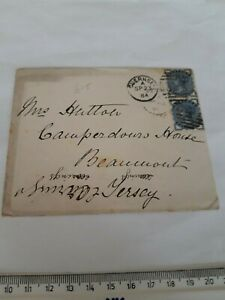 GUERNSEY - JERSEY -  1884 - ENVELOPE AND LETTER