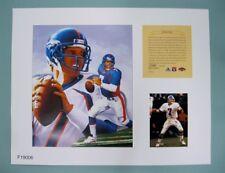 John Elway Denver Broncos 1997 NFL Football 11x14 Lithograph Print (scare)