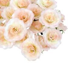 50Pcs Artificial Silk Fake Rose Flower Heads Bulk Wedding Party Decor Pink