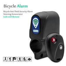Lock Bicycle Bike Alarm Loud Security Remote Control Vibration Sensor Anti Theft