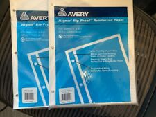 Avery Rip Proof Reinforced 3 Hole Paper Packs Ruled 95 X 6 100 Sheets Wb 213 R