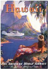 "Cool Retro Travel Poster CANVAS ART PRINT ~ Panam Hawaii 8""X 10"""