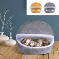 Cute Pet Cave Beds Warm Fleece Cat Indoor House Sleep Wool Small Dog Kennel Nest