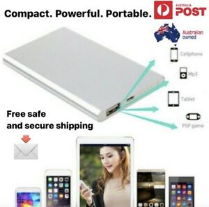 Portable Slim 10000mah power bank USB 2 fast charge battery combined postage