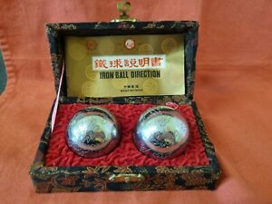 Chrome Baoding Balls Chinese Health Exercise Stress Relief Relaxation Therapy