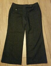 MARKS AND SPENCER AUTOGRAPH WOOL SILK TAPERED LEG TROUSERS NAVY 18 MEDIUM BNWT