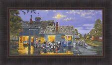 SAM'S CAFE by Dave Barnhouse 16x28 FRAMED PRINT Harley Davidson Motorcycles HCD