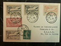 1922 La Baule France Early Airmail Cover to Bern Switzerland Local Issue Stamps