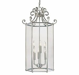Savoy House KP-3-503-4-242 Spirit 6 Light Foyer Lantern Satin Nickel Finish