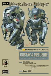 HASEGAWA P.K.A. Ausf.G GUSTAV & Ausf.M MELUSINE 1/35 Model Kit Maschien Krieger