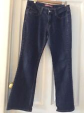 Señoras Levis superbajo Bootcut 518 Denim Jeans Tamaño 11 corto W34 L30
