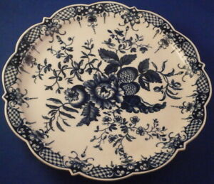 Antique Worcester 18thC Porcelain Cress Dish Underplate England English Plate