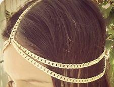 Women Girl fashion punk thick Metal head chain Hair accessories decoration HB026