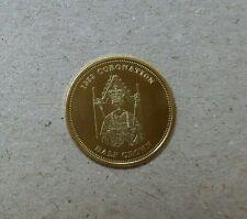 2012 Tristan Da Cuhna 1953 The Coronation  Proof Gold Coin with COA