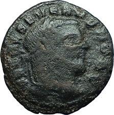 SEVERUS II 305AD Rare Quarter Follis Authentic Ancient Roman Coin GENIUS i66341