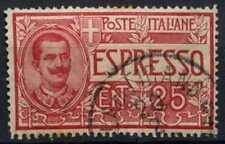 ITALIA 1924-5 SG#E73, 25 C Express lettera francobollo usato #D62458