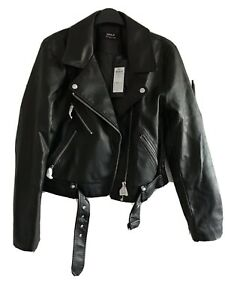 Asos faux leather biker jacket