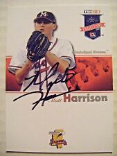 MATT HARRISON signed PHILLIES RANGERS 2008 TriStar Projection baseball card AUTO