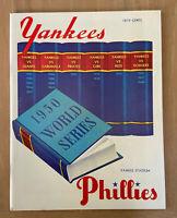 1950 WORLD SERIES BASEBALL PROGRAM PHILLIES @ NEW YORK YANKEES - OPIE 000/1000