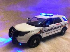 1/18 SCALE DIECAST LEVY COUNTY SHERIFF K9  FORD SUV W/WORKING LIGHTS AND SIREN