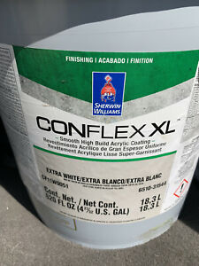 Two 5 Gallon Conflex Extra White Paint.