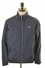 GANT Mens Tracksuit Top Jacket Small Navy Blue Nylon