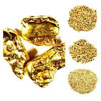 10 GRAMS MIXED LOT ALASKAN YUKON BC NATURAL PURE GOLD NUGGETS #8 #10 #16 #20 #30