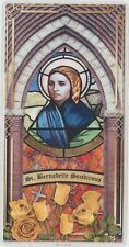 St Bernadette Relic Card Touched to First Class Hair Relic of Saint