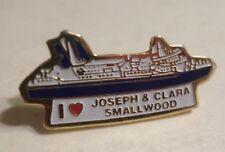 mv Joseph & Clara Smallwood . Lapel Pin Canadian National Marine Atlantic Ship