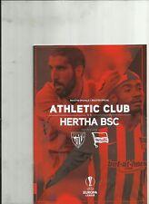 Athletic Bilbao v Hertha Berlín oficial Programa Europa Liga 2017
