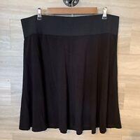 Alfani Women's Plus Black Flared Skirt NWT Size 2X