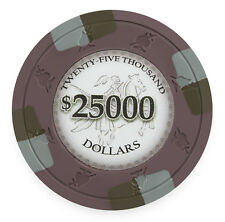 "25 ct Olive Purple $25000 Twenty-Five Thousand ""Poker Knights"" 13.5g Poker Chips"