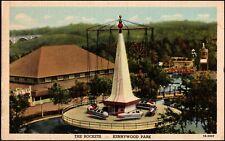 Kennywood Park Amusement Park The Rockets Ride Pittsburgh PA Linen Postcard