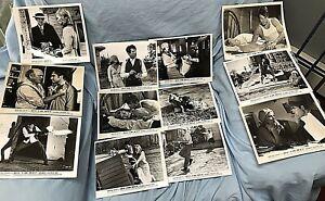 BONNIE AND CLYDE RARE ORIG. 1967 MEDIA USED WB STUDIO PROMO PHOTOS LOT OF 12!!!
