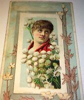 1890 N106 Dukes's Honest Long Cut Fairest Flowers Tobacco Card! Fashion Litho!