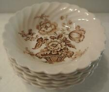 8 Royal Staffordshire Charlotte Brown Small Sauce Bowls Clarice Cliff England