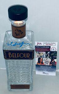 Ed Belfour signed Belfour Bourbon Whiskey 750 ML Bottle autographed JSA